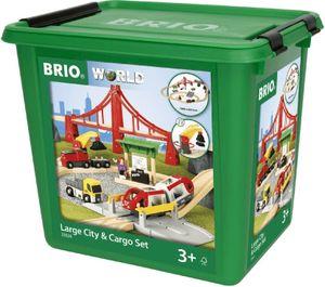 BRIO Großes City & Frachten Set in Kunststoffbox