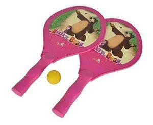 Simba 109306214 - Mascha und der Bär Beachballspiel pink