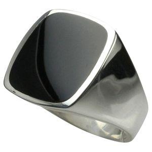 Massiver Siegelring aus 925er Silber mit Onyx, Größe:Größe 68 (21.7 mm)