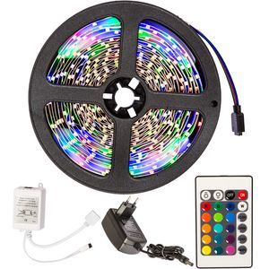 tectake LED-Strip mit 300 LEDs, 5m Länge - weiß