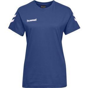hummel hmlGO Baumwoll T-Shirt Damen kurzarm true blue L