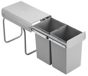 Wesco Küchen Mülleimer, Einbau ab 30 cm Schrank, 2-fach Abfalleimer