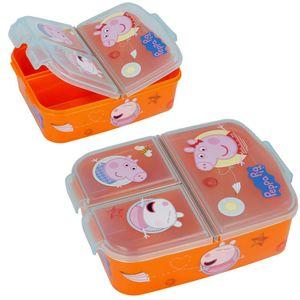 Peppa Big Brotdose mit Unterteilung 3 Fächer Brotbox Brotbüchse Lunchbox Wutz