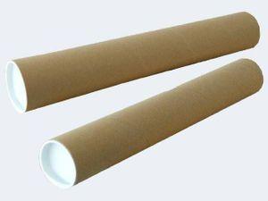 Versandhülse 100x10cm mit Plastik Boden und Deckel
