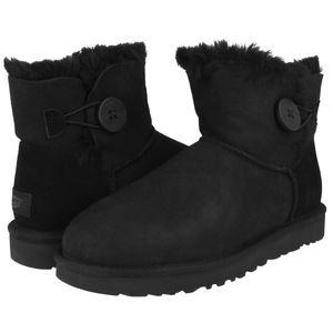 UGG Mini Bailey Button II Boot Stiefel Damen Schwarz (1016422 BLK) Größe: 37 EU