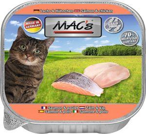 16x85g MAC's CAT Lachs & Hühnchen Alu Schalen