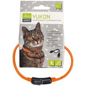 Hunter LED Silikon Leuchtschlauch, Yukon, Katze universal 18-34 cm, orange, kürzbar, mit USB Kabel