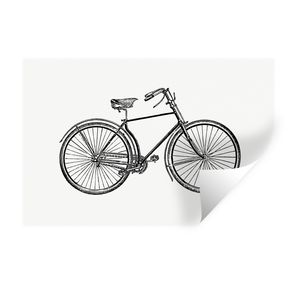 Wandaufkleber - Retro - Fahrrad - Vintage - 60x40 cm - Repositionierbar