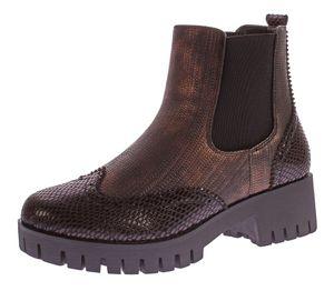 Damen Stiefeletten Block Absatz Metallic Look Boots Knöchel Schuhe Reptil Optik Gummizug Gr. 36-41, schuhe Größe:39 EU, Farbe schuhe:Schwarz