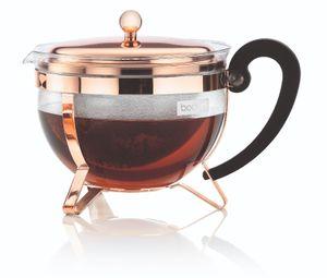 Bodum Teekanne mit Filter Chambord Kupfer 1,5 Liter