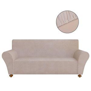 vidaXL Sofahusse Sofabezug Stretchhusse Beige Polyester-Jersey