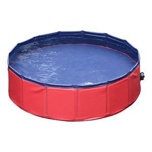 PawHut Hundebadewanne Hundepool Badewanne Swimmingpool Wasserbecken für Hunde 160 x 30 cm