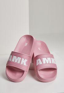AMK Slides Schlappen Badeschuhe Badelatschen Sandale Schuhe AMK001, color:pink/wht, size:38