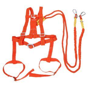 2M Sicherheit Gurt Absturzsicherung stark, haltbar Safety Harness Auffanggurt Einstellbar für die meisten Menschen (Rot)