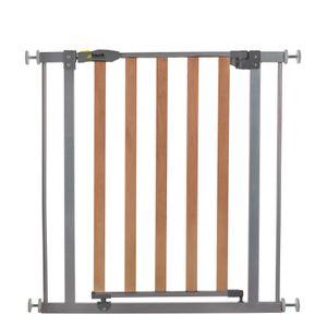 Hauck Treppenschutzgitter 74 - 80 cm, Stahl/Holz, grau/braun