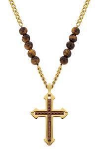 Police PJ26568PSG.02 Halskette mit Kreuz Cuillin