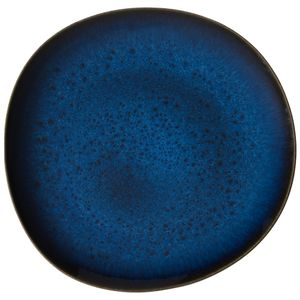 Villeroy & Boch Lave bleu Speiseteller 6 Stück Nr. 1042612610 und 4er Set EKM Living Edelstahl Strohhalme