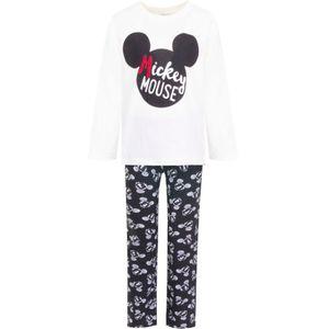 Disney Mickey Schlafanzug, weiß-schwarz, Gr. 98-128 Größe - 8 Jahre