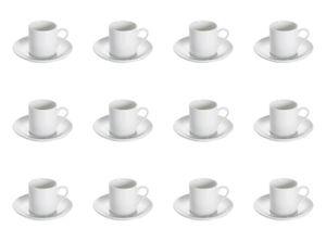12 Set Espressotasse WHITE BASICS ROUND rund H. 6,5cm weiß Maxwell & Williams