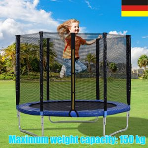 Garten Unterhaltung im Freien Outdoor Trampoline with Safety Enclosure Net and Padded Poles, 8FT Garden Trampoline 150KG Weight Capacity, GS and TUV Tested