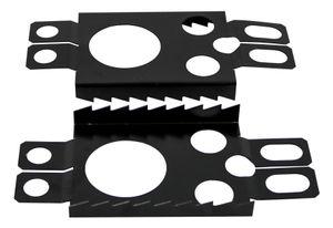 Crossblades Schneeschuh Harscheisen, 1 Paar, Schwarz, für Softboot oder Hardboot Crossblades