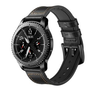 Armband für Samsung Gear S3 Classic / Frontier / Galaxy Watch Leder - schwarz