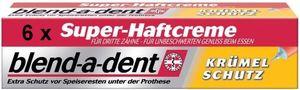 blend-a-dent Super-Haftcreme für Zahnersatz Krümelschutz je 40g 6er Pack