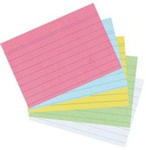 Herlitz Karteikarten DIN A6 liniert weiß 100 Karten