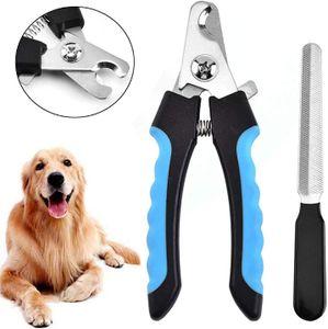Krallenschere für Hunde, Katzen und Kleintiere, Nagelschere Krallenpflege für Große, Mittelgroße Hunde und Katze, Profi Krallenschneider mit Safety Guard