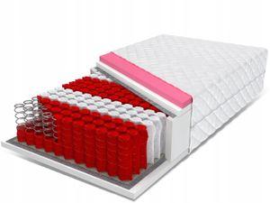 PolBaby Matratze FDM Taschenmatratze mit Viskospeicher 140x200 Aster 24cm, Härte: H1 / H2