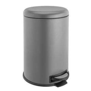 SVITA T20 Kücheneimer grau 20L Treteimer Abfallbehälter  mit Inneneimer, rutschfestes Pedal