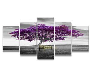 200 x 100 cm Bild auf Leinwand lila Baum 6339-VKF deutsche Marke und Lager  -   fertig gerahmt , exklusive Markenware von Visario