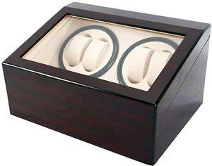 Automatische Uhrenbeweger Box, 4+6 Uhrenbeweger Uhrenbox mit leisem Motor Netzteil Uhrenwender Watch Winder für Automatikuhren Drehteller r Uhrendreher