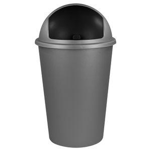 Abfalleimer 50L grau Mülleimer Abfallsammler Müllsammler Abfallbehälter