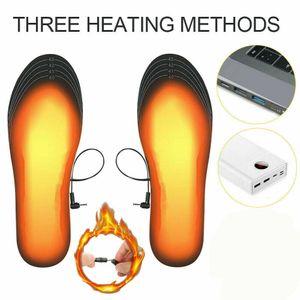40-44 USB Elektrisch Beheizbare Einlegesohlen Beheizte Schuheinlagen Heizsohlen
