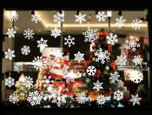 Fensterbilder Weihnachten Selbstklebend, Schneeflocken Fensterbild, Winter-deko Weinachts Dekoration, Weihnachten Fenstersticker, Fensteraufkleber PVC Weihnachten Fensterdeko selbstklebend