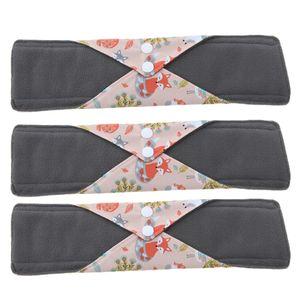 3 x Baumwolle Slipeinlagen Waschbar Wiederverwendbar Damenbinden für Menstruationstasse