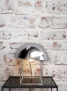 Steintapete Ziegelstein Weiß Papier Landhaus Modern Loft Industrial Mauer Stein  Lavas