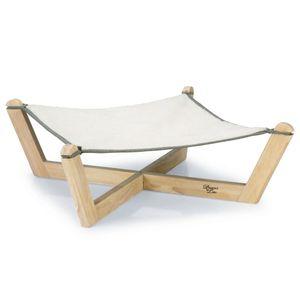 Designed by Lotte Katzen-Hängematte Gaia 51x51x18,5 cm Holz Grau