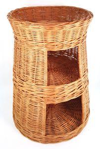Tigana XXL Katzenturm aus Weide Katzenkorb Korbhöhle 3 Etagen Höhe: 66 cm RUND, Größe:ohne Kissen