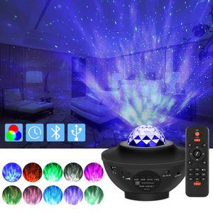 LAPA LED Musik Projektor Sternenhimmel Lampe Wasserwellen-Welleneffekt Lautsprecher Nachtlicht
