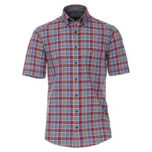 Casa Moda - Casual Fit  - Herren Freizeit 1/2-Arm-Hemd mit Button Down-Kragen (903449000), Größe:XXL, Farbe:Rot (400)