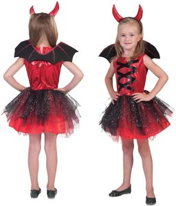 Teufel Devil Girl Kinder Halloween Karneval Fasching Kostüm 104