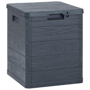 vidaXL Garten-Aufbewahrungsbox 90 L Anthrazit