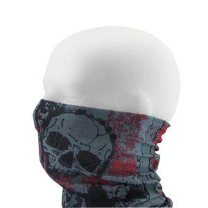 Oblique Unique Multifunktionstuch Schlauchtuch Halstuch Motorrad - Head with Red