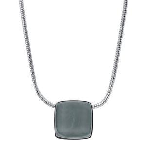 Skagen SKJ0868040 Damen Collier SEA GLASS Edelstahl Silber Grau 47 cm