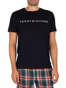 Tommy Hilfiger Herren Lounge Grafik T-Shirt, Blau M
