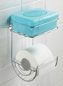 Toilettenpapierhalter mit Ablage Klopapierhalter Turbo-Lock