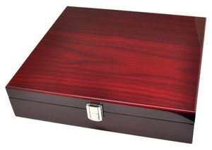 Uhrenbox für 10 Uhren 8-fach lackiert Bordeaux Rot 864