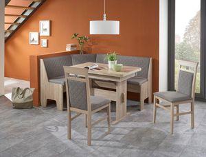 Eckbankgruppe Mainz Sonoma 2x Stuhl Eckbank Wangenausziehtisch